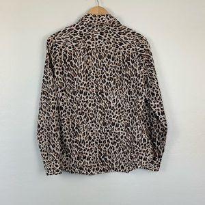 J. Crew Tops - J.Crew perfect shirt leopard button up medium